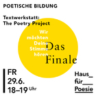Textwerkstatt: The Poetry Project - Das Finale Gestaltung: Studio stg